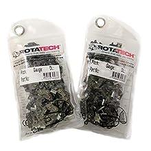 "Rotatech x2 (Two) Genuine Chainsaw Chains 3/8"" 1.3mm 52 Links 35cm Fits Oregon, Bosch, Dollmar, Hitachi, Echo, Einhell, Makita, Husqvarna and others"
