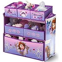 Preisvergleich für Delta Children's Products Disney Sofia Multi Toy Organizer für Spielzeug aus Holz mit Textilschubladen Aufbewahrungsbox mit Schubladen