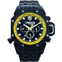 TECHNO Sport Hombre Chrono Reloj–Negro