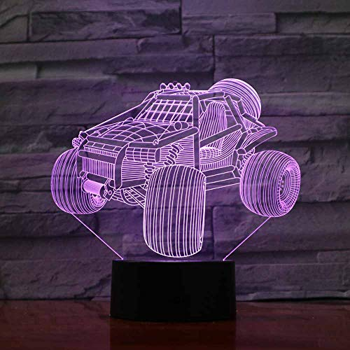 RMRM 3D Nachtlicht Illusion Led-Lampe Der Nachtlampe Led-Nachtlicht-Auto-Niedliche Schreibtisch-Tischlampe Veilleuse Mit Batteriebetriebenem Fach Usb-Kabel Luminaria