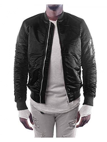 Project X Paris Herren Basic Bomberjacke Fliegerjacke Regular Fit Black