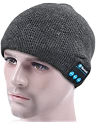 ULTRICS® Bluetooth Beanie Hat - Warm Unisex Winter Knit Cap to Enjoy Wireless Music with Stereo Speake,r Receive Phone Calls Hands Free, Best Christmas Gift for Her