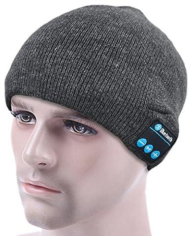 ULTRICS® Bluetooth Beanie Hat, Unisexe Hiver Sans Fil Casque Cappello Maglia Haut-parleurs Con Cuffie Altoparlante stereo, Microfono, Ricevere Chiamate Mani Libere Controllo