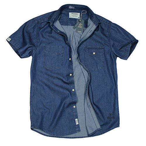 JACK & JONES Herren Slim Fit Freizeithemd NEW GREAT Blue - Dark Blue (14-0146al)