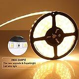 FVTLED 5m Led Streifen Leiste Lichtband warmweiß SMD2835 300 LEDs Lichtleiste Strip Lampe Indirekte Beleuchtung Unterbauleuchte TV Licht 3000k selbstklebend