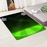 Wddwymll 3D Fußball Muster Teppiche Wohnzimmer Couchtisch Schlafzimmer Nachttisch Teppich Kinder/Baby Zimmer Flanell Krabbeldecke Teppiche - 3,60 x 180 cm
