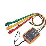 HQRP 3-Phasen Elektrotester Phasenprüfer LED-Digitalanzeige / Drehfeldanzeiger Prüfgerät