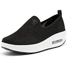 2ffd818efb64a Solshine Damen Chic Plateau Schnürer Sneakers Walkmaxx Schuhe Shape-up  Fitnessschuhe