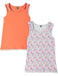 United Colors of Benetton Girls' Plain Regular Fit Shirt