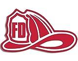 American Vinyl FD Feuerwehr Helm Aufkleber Geformt