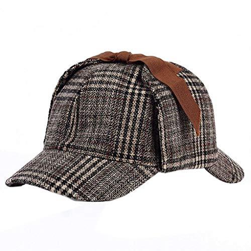 Bontand Sherlock Holmes Hut Unisex Winter-Wolle-Barett Für Männer Tweed Cap Zubehör Britischen Detective Hat - Sherlock Holmes Kostüm Frauen