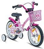 PROMETHEUS Premium Vélo pour enfants à partir d'env. 3-4 | Edition Classic 14 Pouces | Couleur Rose & Blanc