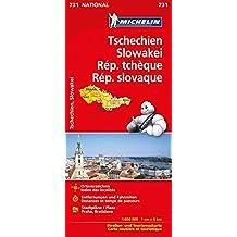 Michelin Tschechien - Slowakei: Straßen- und Tourismuskarte (MICHELIN Nationalkarten)