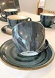 Kaffeeservice oder Teeservice 12-teilig für 6 personen, handbemalt, Steingut