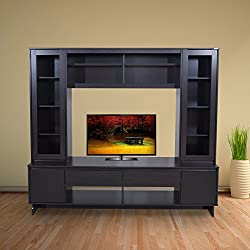 Viola entertainment unit is made of engineered wood. It has a modern design with Malaysian craftsmanship. Ample storage.