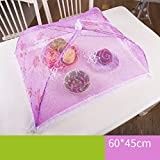 CHENGYI Copertura pieghevole rosa dell'alimento Anti-fly Copertura della copertura della copertura della piastra della copertura della tabella pranzante ( dimensioni : B )
