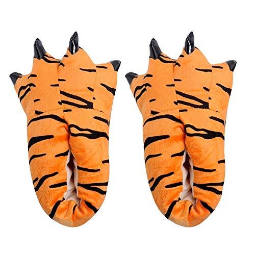 MYMYG Erwachsene Frauen Plüsch Hausschuhe Lustige Tier Paw Monster Claw Schuhe Winterschuhe Mode Warme Flache Schuhe Rutschfest Baumwolle Pantoffeln Slippers