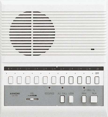 Aiphone LEF-10S Open Voice Selective Call Master Intercom with All-Call; Surface Mount; Accepts Up to 10 Connecting Door, Sub-Master, or Master Intercoms by Aiphone Aiphone Intercom