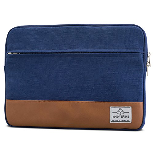"Laptophülle 13 - 13.3 Zoll Blau - Johnny Urban Canvas Laptop Sleeve Laptoptasche Hülle für MacBook Air 13"" & Pro 13"" Surface..."