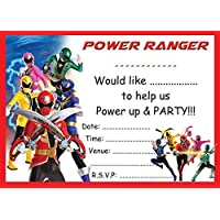 amazon co uk power rangers invitations party supplies toys games