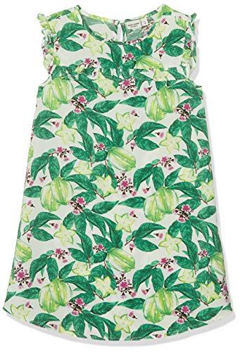 NAME IT Mädchen NKFVINAYA CAPSL Dress H Kleid, Mehrfarbig (Bright White Detail: Big Flower Print), Herstellergröße: 134 -