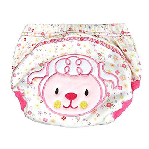 SEVENHOPE Sous-vêtements Potty Training Pants Pantalons d'entraînement réutilisables pour enfants en bas âge Pantalon d'entraînement mignon (Lamb M)