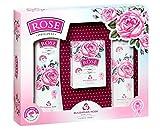 Rose Original Set de Regalo de Mujer con Loción Corporal, Jabón y Crema de Manos con Aceite de Rosa 100% Natural