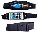 Running Belt for iPhone 7 / 7s / PLUS / 6 / 6S / iZarin® Fitness Waist Pack for Men and Women / Includes Headphone Cable Slot, Keys, Cards & Accessories Holder