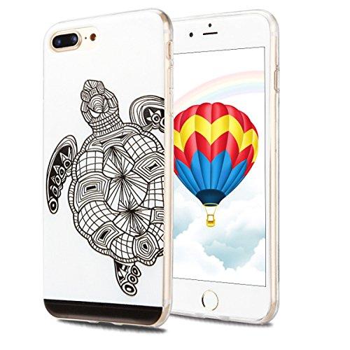 Coque iPhone 7 Plus , Etui iPhone 7 Plus , CaseLover Etui Coque TPU Slim pour iPhone 7 Plus (5.5 pouces) Mode Flexible Souple Soft Case Couverture Housse Protection Anti rayures Mince Transparent Sili Tortue