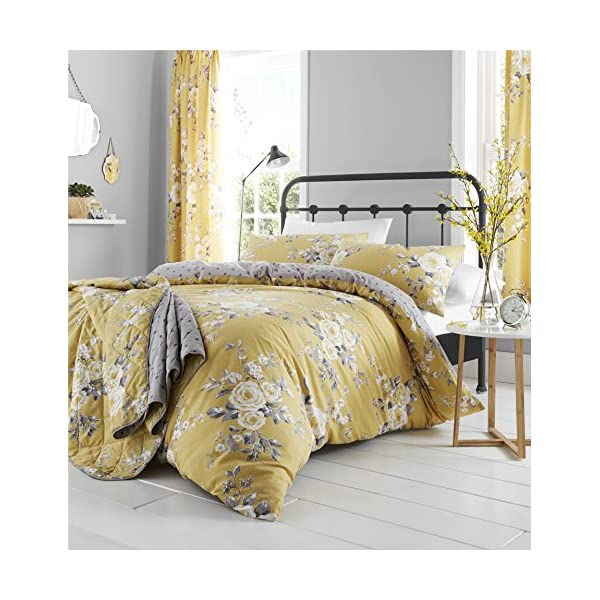 Catherine Lansfield Canterbury Easy Care Single Duvet Set Ochre 51Wex7vYc3L