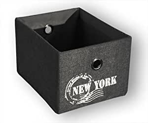 KMH®, Praktischer Schrankkorb (Farbe: grau / Aufdruck: New York) (#204126)