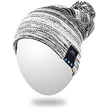 Qshell inverno confortevole Bluetooth cappello del Beanie Pom Cap di