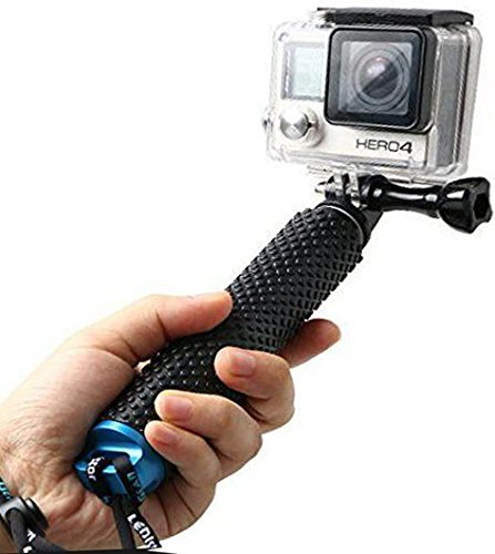 LENDOO Palo Selfie Stick Monopod de Telescópica Ajustable de Aluminio Impermeable para Cámara Gopro Hero 4 3+ 3 2 SJ4000 SJ5000 (azul)