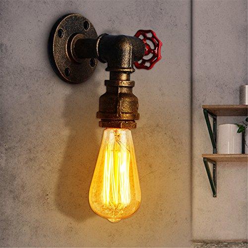 Jeteven Lámpara de Pared de Tubo de Vintage Lámpara Retro Industrial Sin Bombilla Decoracion de Café Hotel Habitacion