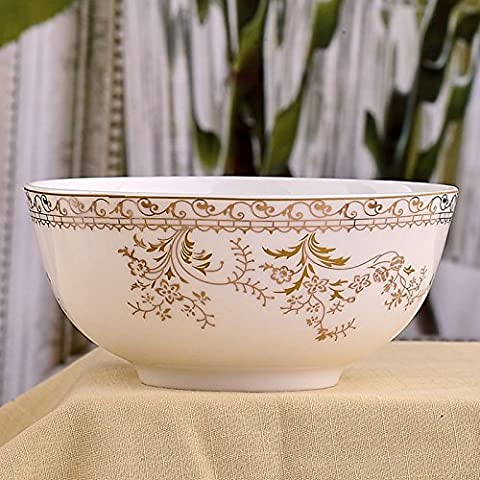 Yifom grandi bone china ciotola singole,8 pollice - Bone Doppia Bowl