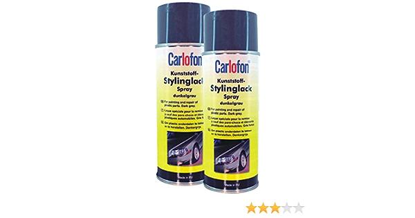 Carlofon 4074032 Kunststoff Stylinglack Dunkelgrau 400 Ml Set Of 2 Auto