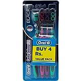 #9: Oral-B Cavity Defence 123 Toothbrush - Medium (Black), 4 Pieces Pack