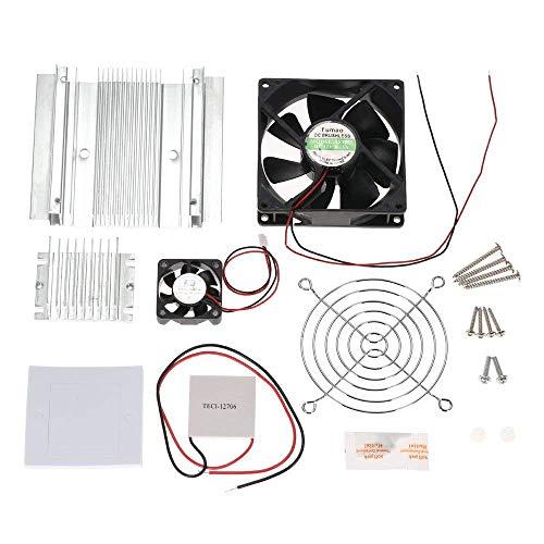KKmoon DIY Thermoelektrischer Peltier Kühlung-Kühlsystem-Installationssatz Semiconductor Kühlvorrichtung-Leitungs-Modul + Heizkörper + Kühlventilator + TEC1-12706