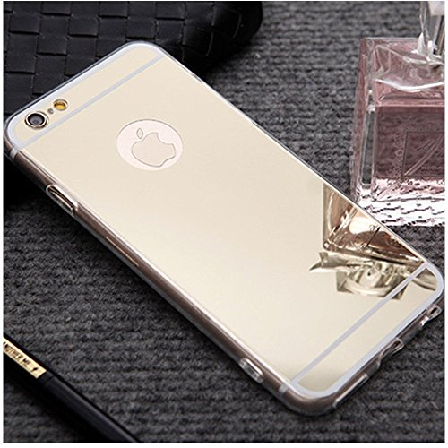 Custodia iPhone 5S in Silicone,Cover iPhone SE Trasparente,KunyFond Lusso Moda Brillante Bling Glitter Soft Tpu Case Cover per iPhone 5/5S/SE,Super Slim Sottile Morbida Gomma Gel Silicone Tpu Protetti oro Placcatura