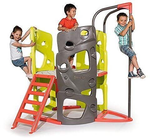 Smoby 840201 Kletter-Spielturm mit Rutsche (Smoby Kletterturm)