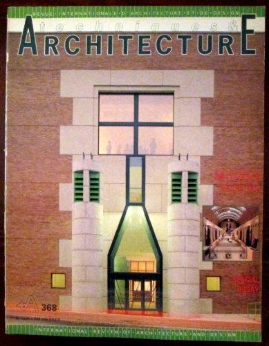 Techniques & Architecture. Octobre - novembre