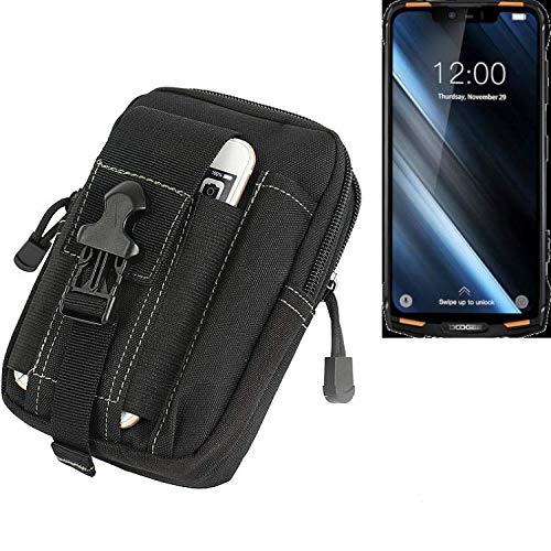 K-S-Trade® Gürtel Tasche Für Doogee S90 Gürteltasche Schutzhülle Handy Hülle Smartphone Outdoor Handyhülle Schwarz Zusatzfächer