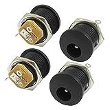 Enchufe de alimentacion - SODIAL(R)2.1x5.5mm Enchufe de alimentacion DC de auriculares Conector de PCB 4 pzs