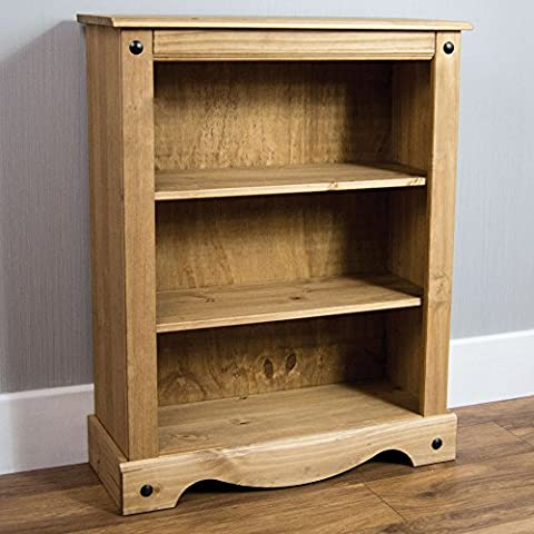 Home Discount Corona Small Bookcase, Solid Pine Wood