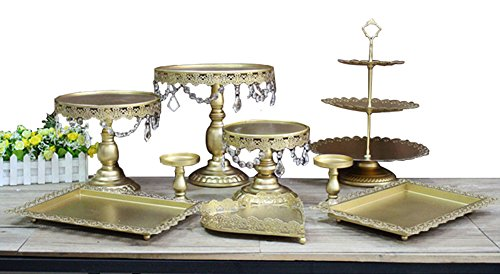 Blue Vessel 6 PCS Gold Cupcake Stand Wedding Party Decoration Supplier Baking Dinner Party Baking Tool