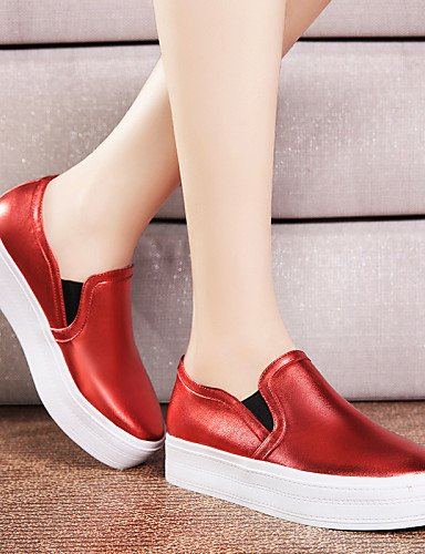 ZQ Scarpe Donna - Ballerine - Ufficio e lavoro / Casual / Serata e festa - Comoda / Ballerina - Piatto - Sintetico - Nero / Rosso , red-us8 / eu39 / uk6 / cn39 , red-us8 / eu39 / uk6 / cn39 red-us5.5 / eu36 / uk3.5 / cn35