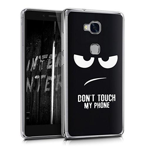 kwmobile Huawei Honor 5X / GR5 Hülle - Handyhülle für Huawei Honor 5X / GR5 - Handy Case in Weiß Schwarz