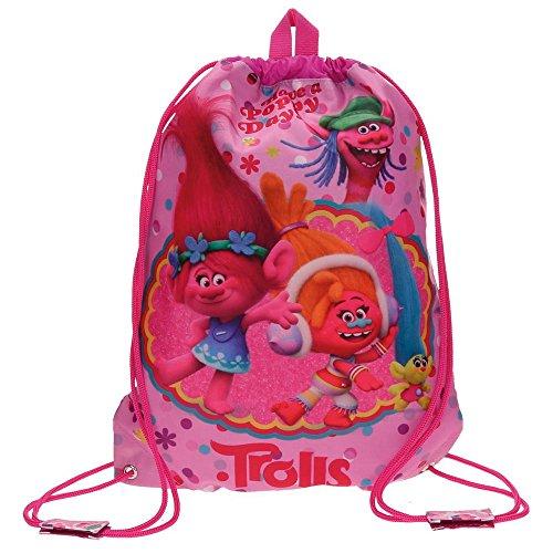 Imagen de trolls happy  infantil, 40 cm, 1.2 litros, rosa