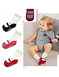 Affe antideslizante calcetines para calcetines de algodón forma de Ballet redondo zapatos patucos para bebé