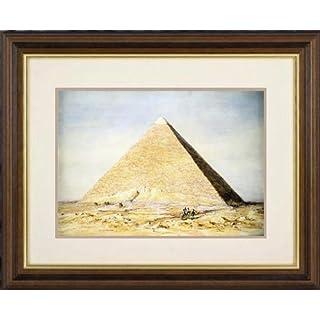 Print of 'Great Pyramid of Cheops at Giza, Egypt, 4th dynasty, Old Kingdom, 26th century BC (1831). Artist: Francis Vyvyan Jago Arundale' in Black Frame